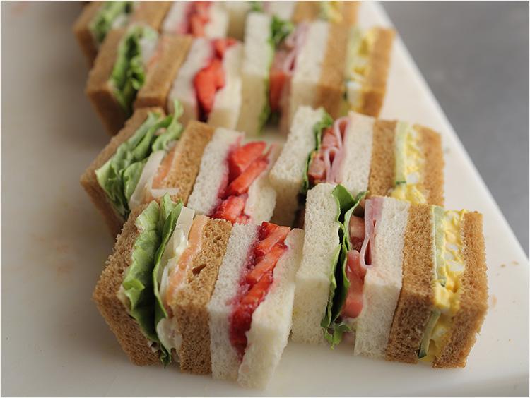 サンドイッチの完成