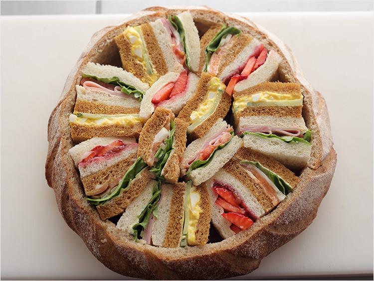 詰め終わったサンドイッチ
