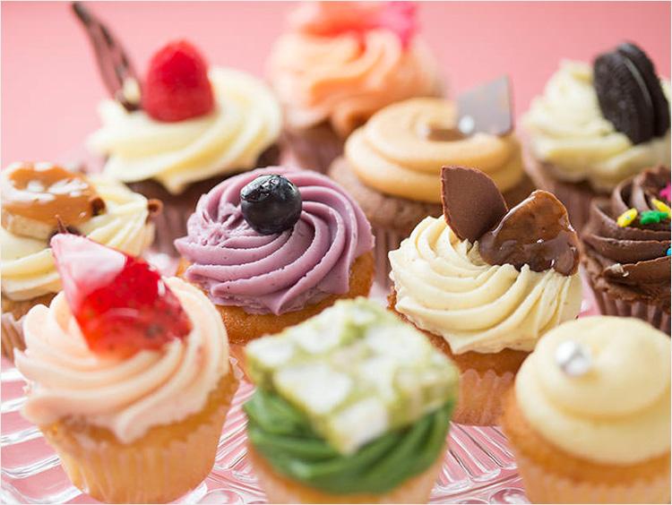 カップケーキの集合