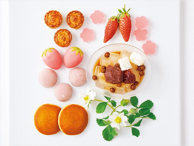 「福羽いちご」のジャムを使った和菓子たち