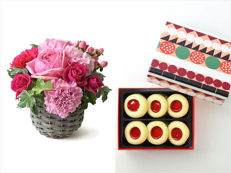 第一園芸×フィーカの母の日アレンジメント&ハッロングロットル(ストロベリー)