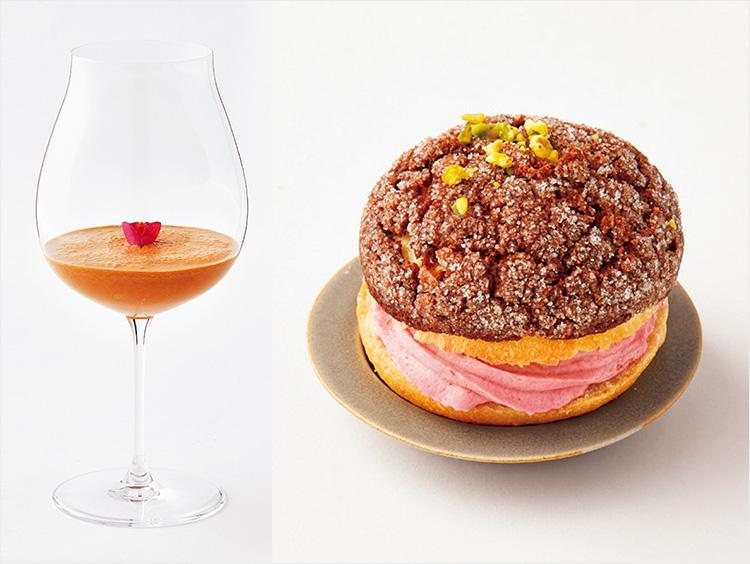 テオドーのティーショコラショとエディアールのショコラのホイップメロンパン