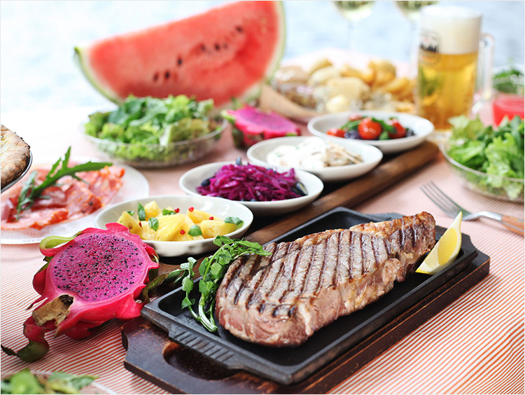 伊勢丹ビアガーデンの料理イメージ