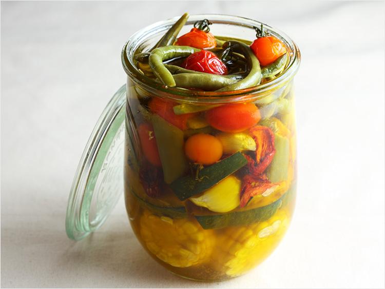夏野菜のコンフィ(瓶詰め)