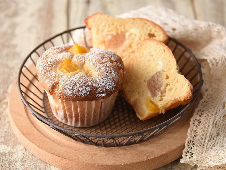 <アンデルセン>桃とレアチーズのマフィン