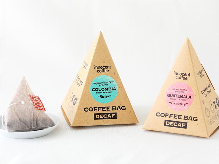 <イノセントコーヒー>デカフェ コーヒーバッグテトラ コロンビア/グアテマラ