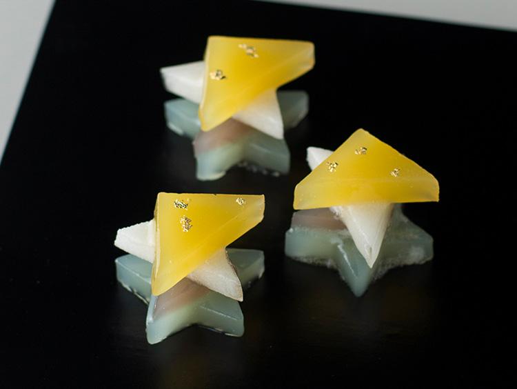 レモン風味が弾ける星形羊羹<鈴懸>