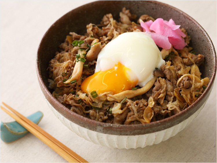 <浅草今半>ポン酢牛丼