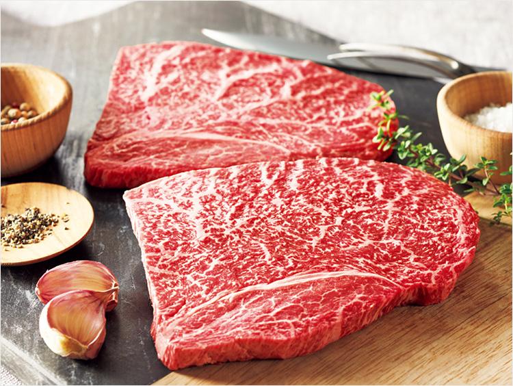 <オーシャンファーム>松阪牛 もも肉ステーキ用