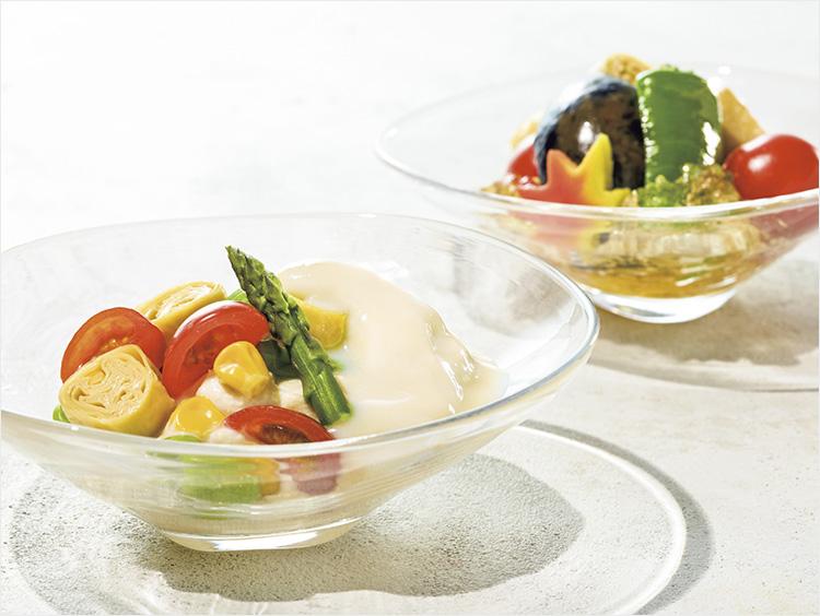 <京料理 美濃吉>夏野菜の冷製炊き合わせと夏野菜の白和え