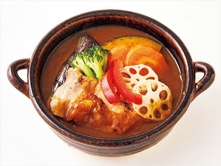 <まつおか>野菜と鶏肉の和風カレー鍋