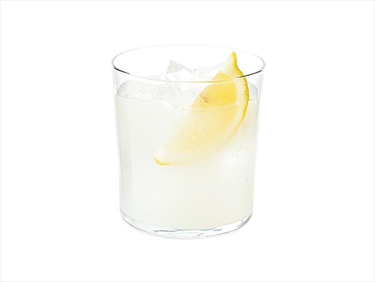 レモンカクテルイメージ、 <人気酒造>人気一「合わせ麹木桶純米吟醸」