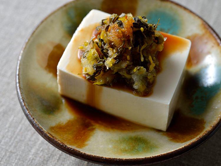 豆腐アレンジ 高菜×大根おろし×ポン酢