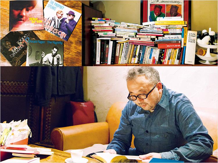 和知さんの書斎と読書をする和知さん