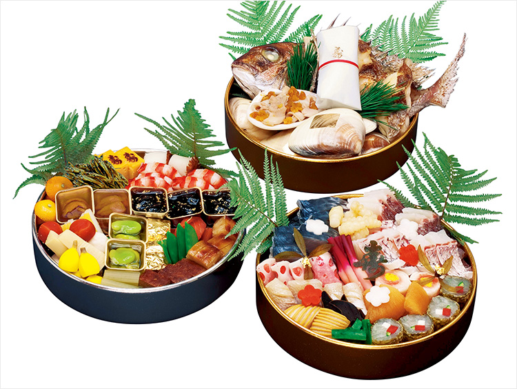 <東京吉兆>和食三段