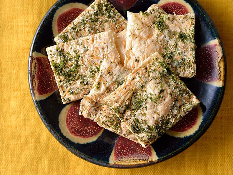 えのき茸としらすのパリパリチーズ焼き