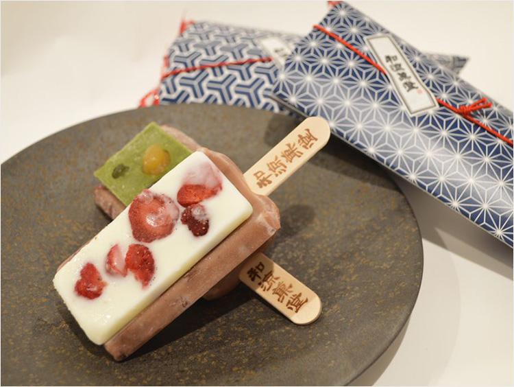 <井村屋 和涼菓堂>涼菓バー 豆と抹茶/いちご