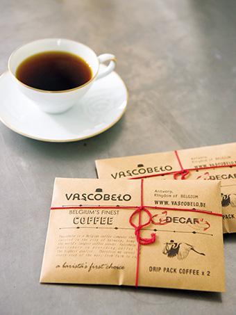 <ヴァスコベロ・コーヒー>デカフェ(カフェインレスコーヒー)ドリップパック(2個入) 日本製 500円(税抜き)
