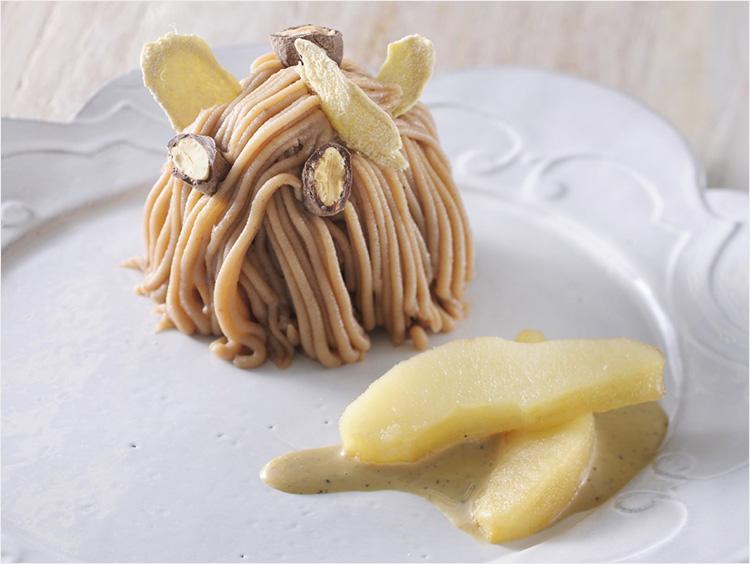 <ビオモモ ハシモト×マ・プリエール>栗、アーモンドショコラと生姜のモンブラン