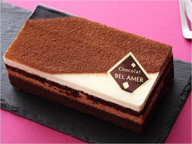 <ベルアメール>3種のショコラケーキ(約縦9.5cm×横19.5cm×高さ10cm) 1,296円(税込) ※販売期間:通年