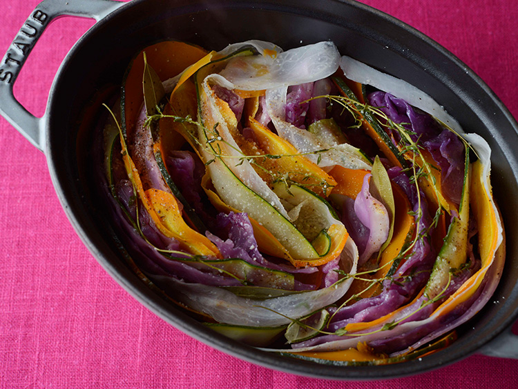 野菜のミルフィーユ蒸し焼き