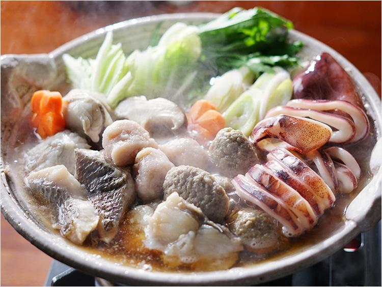 海鮮鍋(ふぐ入り)