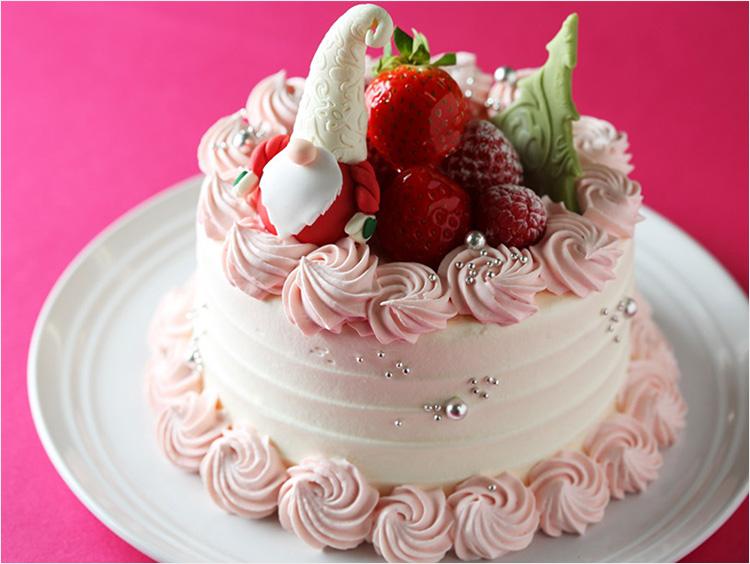 クリスマスケーキのかわいいいデコレーション