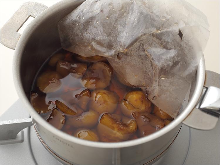 栗の甘露煮の完成
