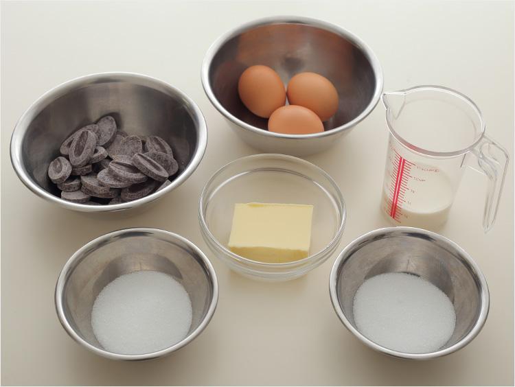 ガトーショコラの材料