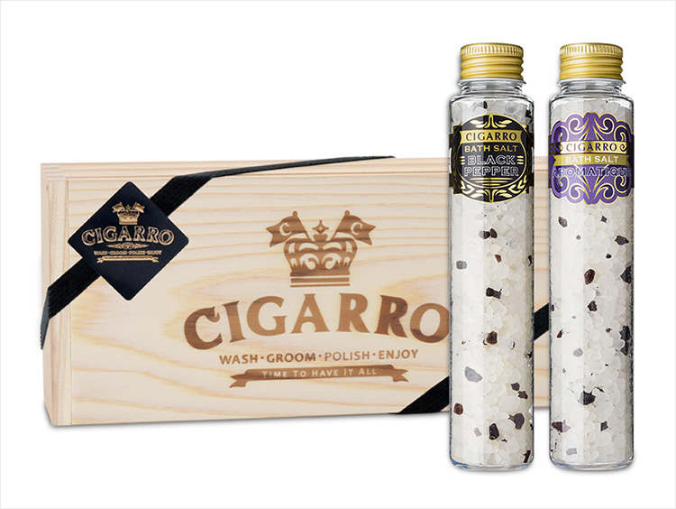 <CIGARRO/シガーロ>CIGARROバスソルト2本セット アロマティック&ブラックペッパー