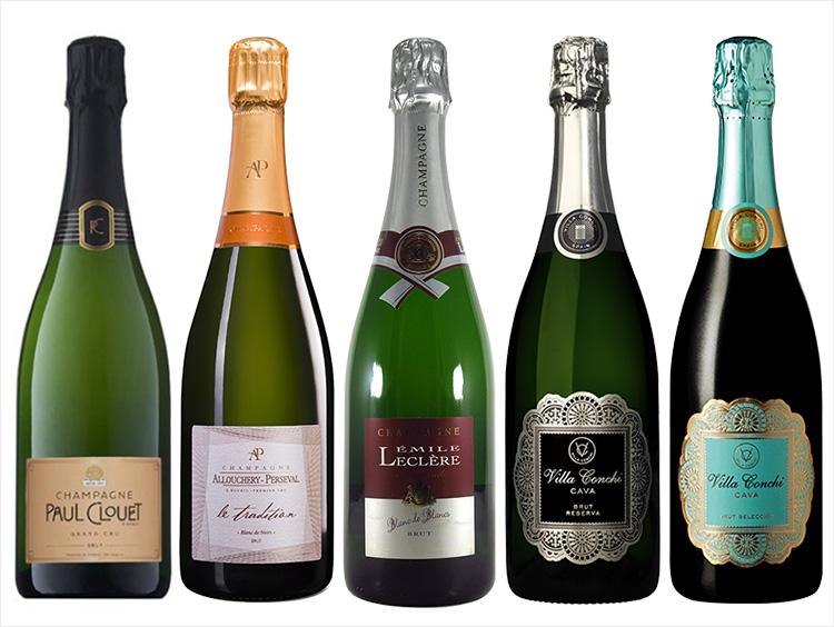 グラン・クリュ シャンパーニュ含む スパークリングワイン5本セット
