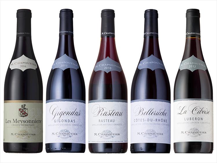 <M.シャプテイエ>濃厚赤ワイン5本セット