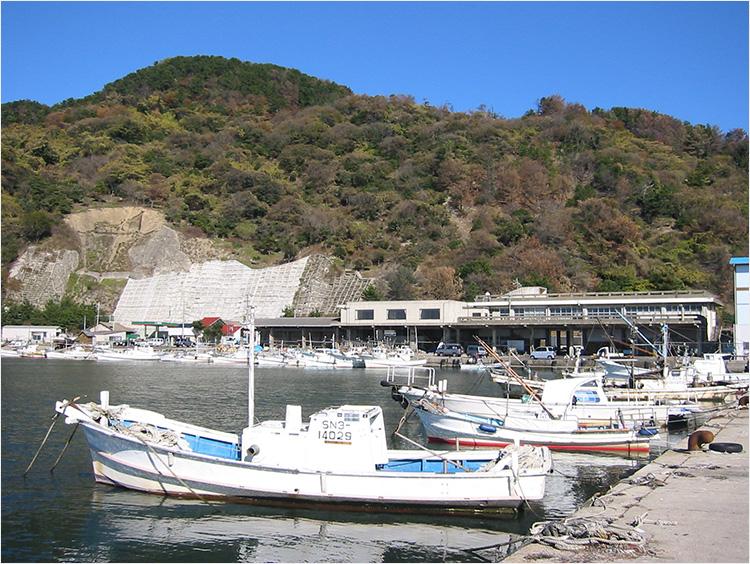 出雲の漁港