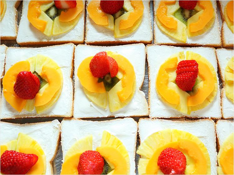 フルーツサンドイッチのイメージ