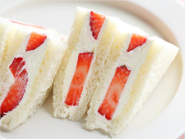 いちごサンドイッチのイメージ