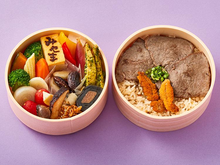 <銀座みやま>壱岐牛と野菜の二段重