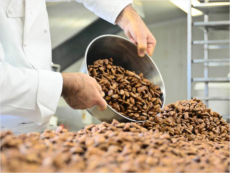 チョコレートの製造過程