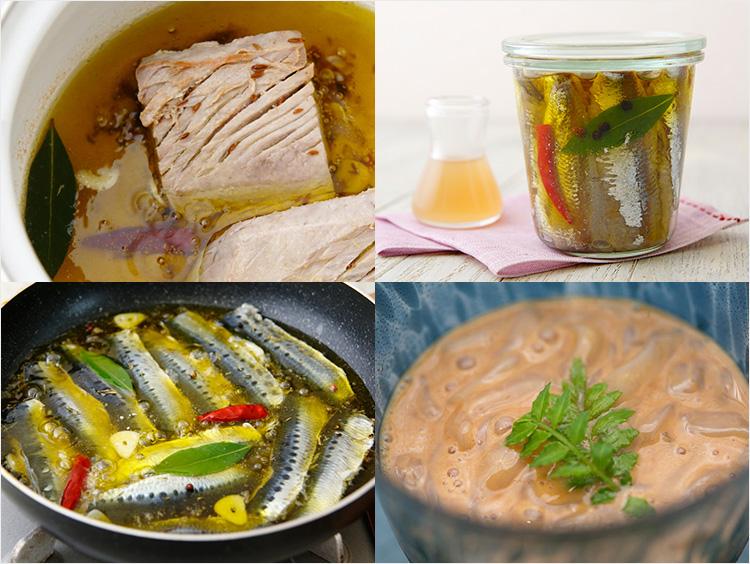 缶詰瓶詰料理のイメージ