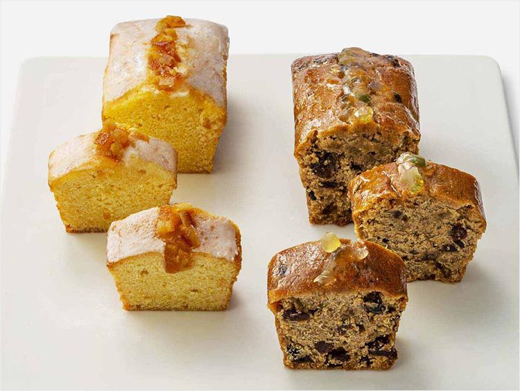 <ローズベーカリー>パウンドケーキギフトボックス レモンオレンジケーキ&フルーツケーキ