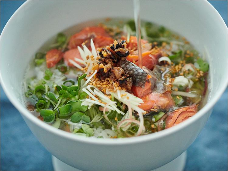 焼き鮭の薬味たっぷり冷や汁
