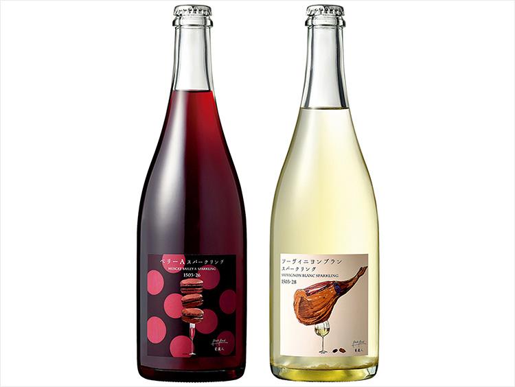 東京下町ワイナリー<BookRoad〜葡蔵人〜>赤・白スパークリングワイン2本セット