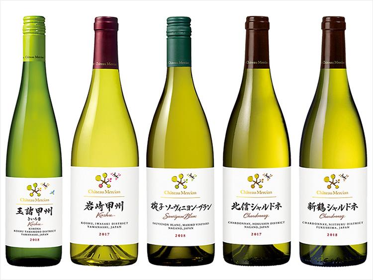 日本のテロワールを味わう国産白ワイン5本セット