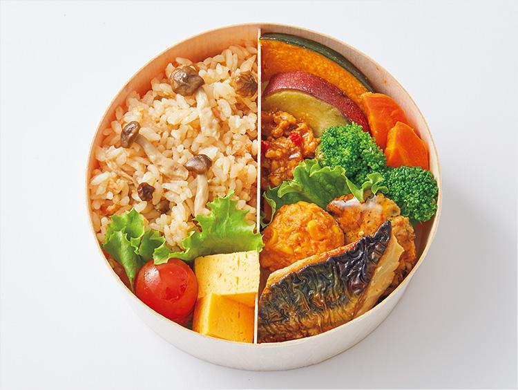 <いとはん>秋鮭きのこごはんの和菜弁当