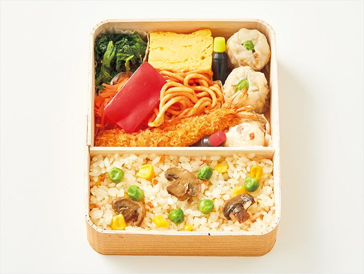 <崎陽軒>大豆ミートシウマイのミニ洋食弁当