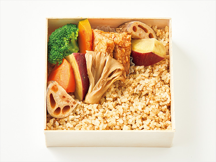 <醸す>大豆ハンバーグと国産温野菜ゴロゴロヘルシー弁当