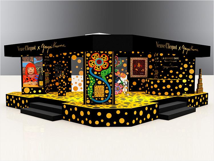 「ヴーヴ・クリコ ラ・グランダム × 草間彌生」特設ステージのイメージ