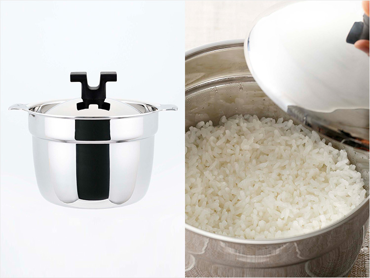 <宮﨑製作所>ライスポット炊飯鍋 ステンレスタイプ2合用