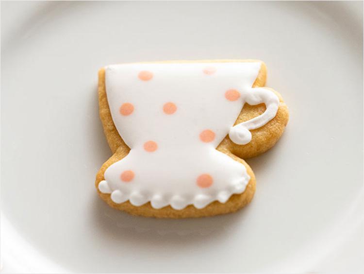 ティーカップのアイシングクッキー