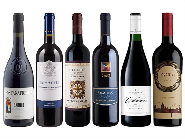 イタリアワインの王様バローロを含む!6州赤ワイン6本セット