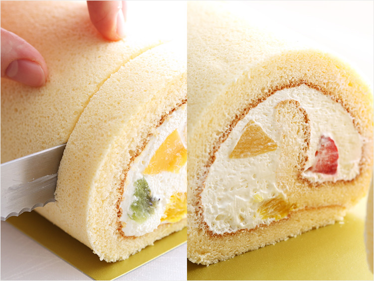 ロールケーキでの使用のイメージ